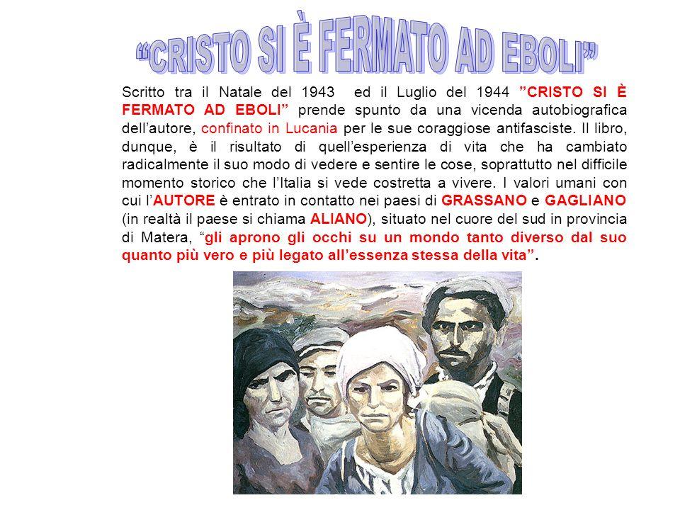 Scritto tra il Natale del 1943 ed il Luglio del 1944 CRISTO SI È FERMATO AD EBOLI prende spunto da una vicenda autobiografica dellautore, confinato in Lucania per le sue coraggiose antifasciste.