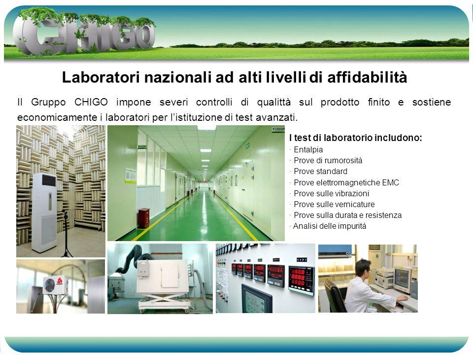 Il Gruppo CHIGO impone severi controlli di qualittà sul prodotto finito e sostiene economicamente i laboratori per listituzione di test avanzati.