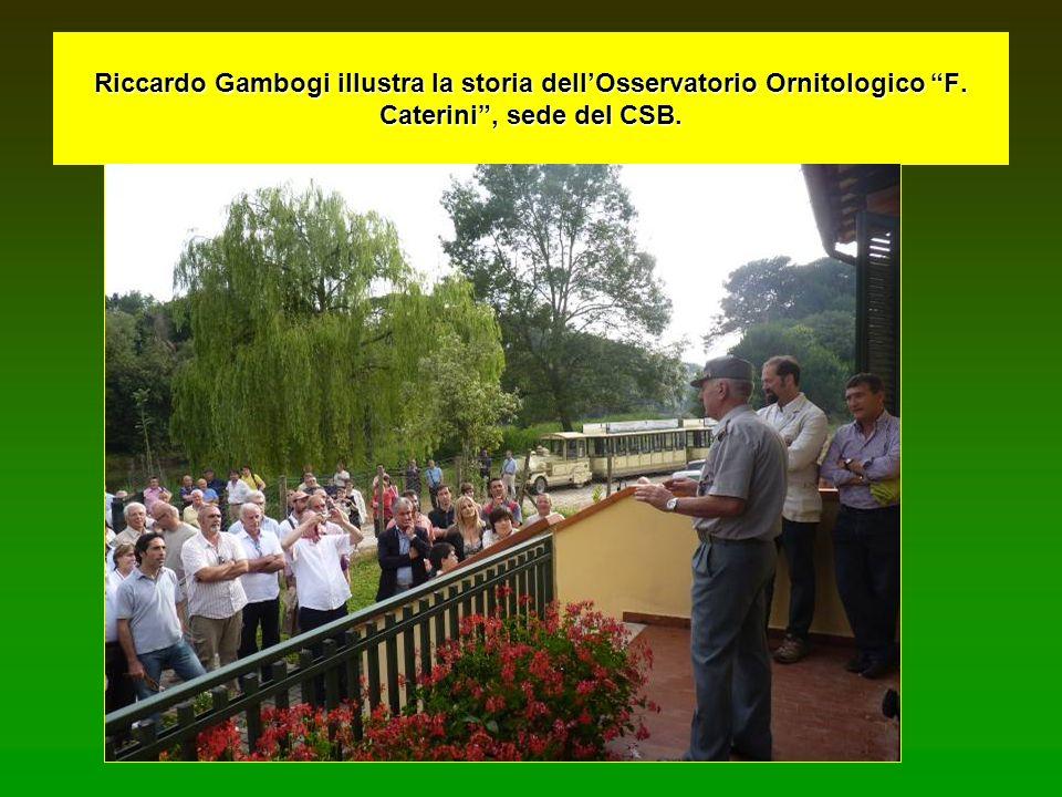 Riccardo Gambogi illustra la storia dellOsservatorio Ornitologico F. Caterini, sede del CSB.
