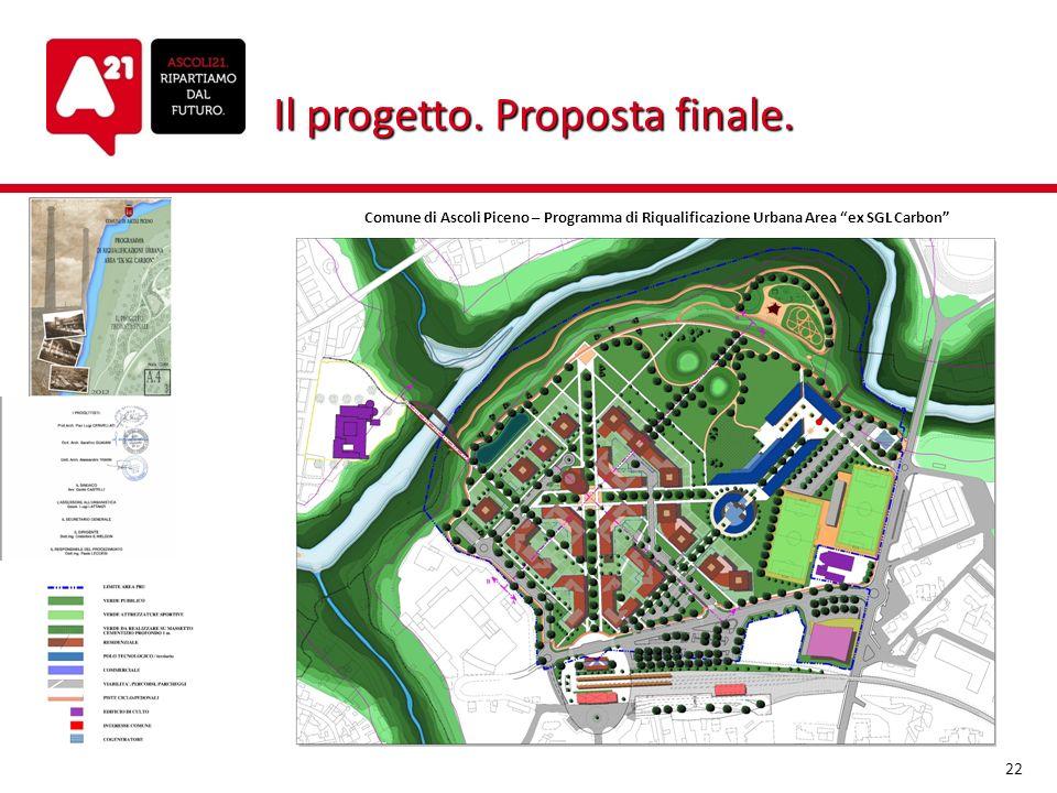 Il progetto. Proposta finale. Comune di Ascoli Piceno – Programma di Riqualificazione Urbana Area ex SGL Carbon 22