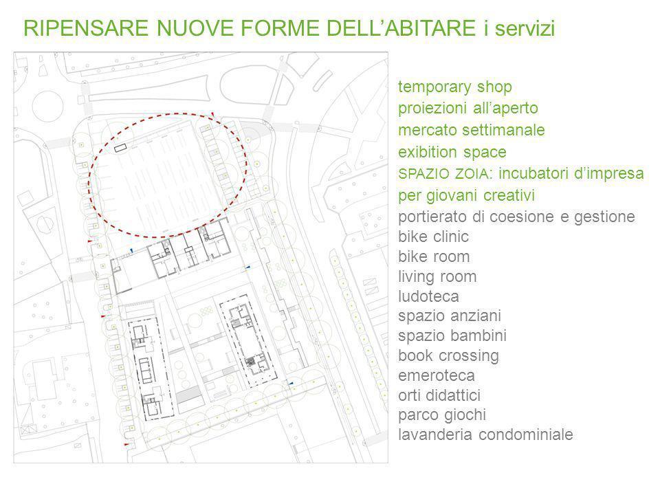 temporary shop proiezioni allaperto mercato settimanale exibition space SPAZIO ZOIA : incubatori dimpresa per giovani creativi portierato di coesione