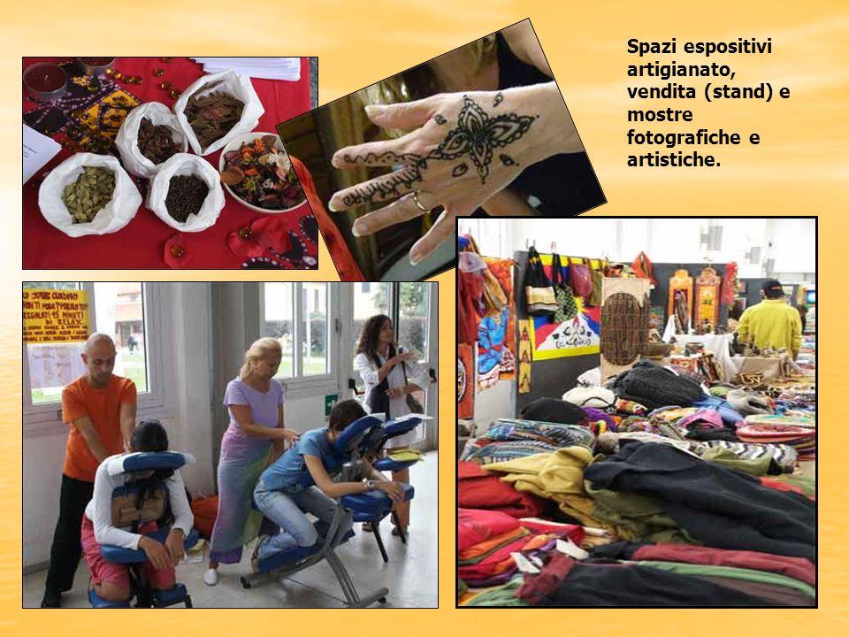 Apertura spazi espositivi artigianato, vendita (stand) e mostre fotografiche e artistiche.