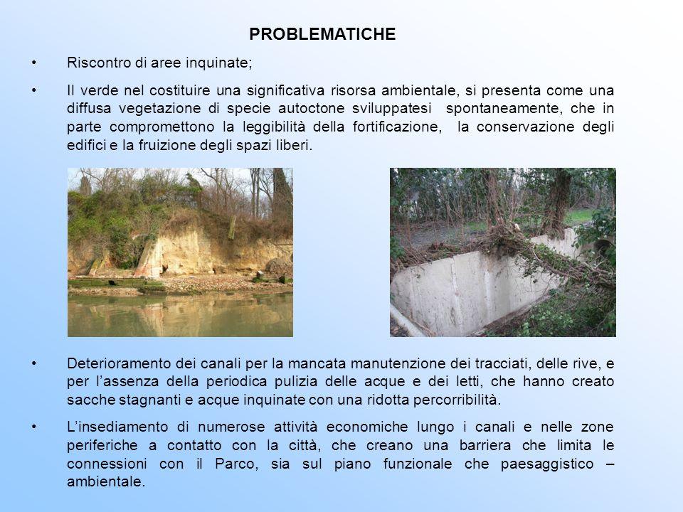 PROBLEMATICHE Riscontro di aree inquinate; Il verde nel costituire una significativa risorsa ambientale, si presenta come una diffusa vegetazione di s