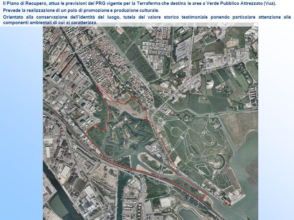 Il perimetro di piano confina a nord con la zona residenziale del quartiere villaggio San Marco, ad est con il parco San Giuliano, a sud con il Parco scientifico tecnologico Vega e con la zona industriale di Porto Marghera, ad est con la zona per attrezzature economiche varie di via Torino e il Polo Universitario.