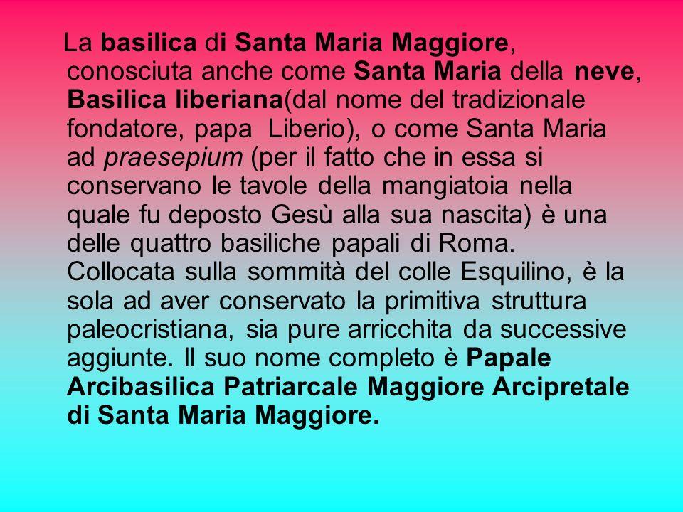 Le basiliche di Santa Maria