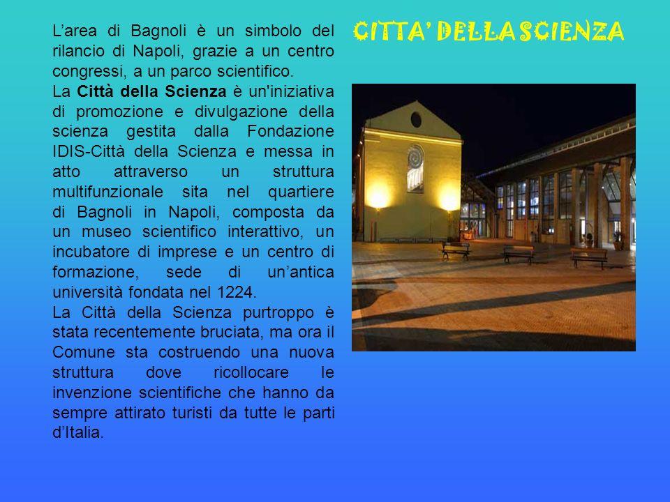 Larea di Bagnoli è un simbolo del rilancio di Napoli, grazie a un centro congressi, a un parco scientifico.