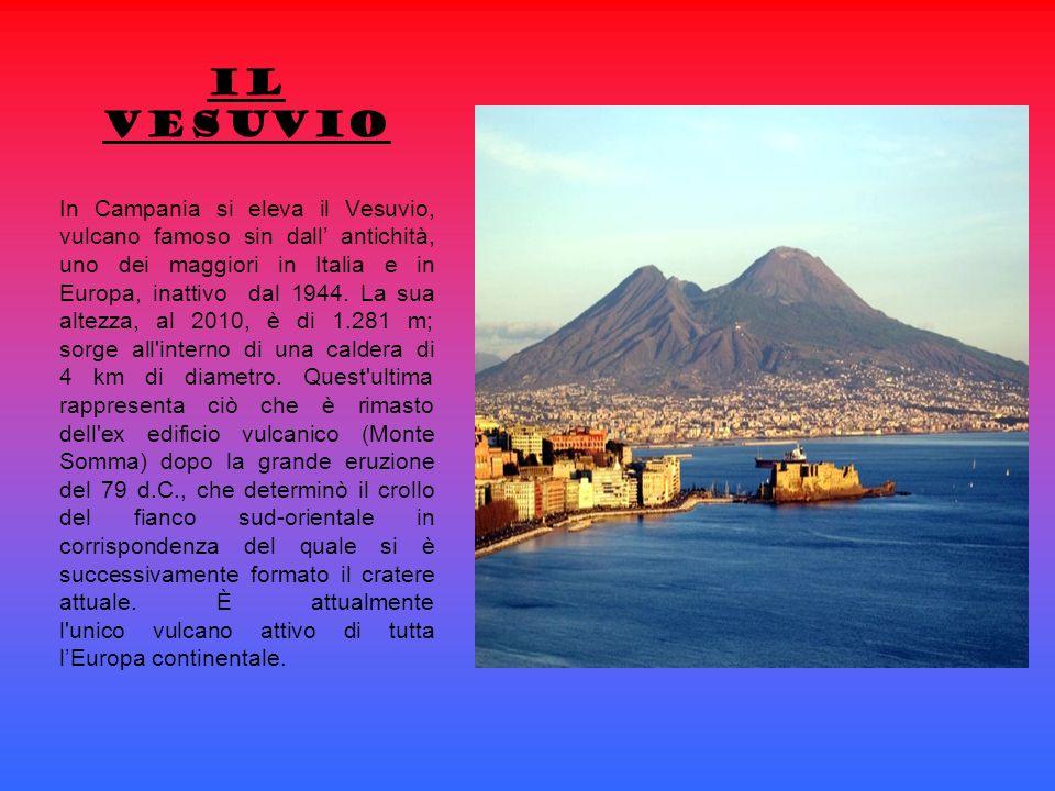 In Campania si eleva il Vesuvio, vulcano famoso sin dall antichità, uno dei maggiori in Italia e in Europa, inattivo dal 1944.