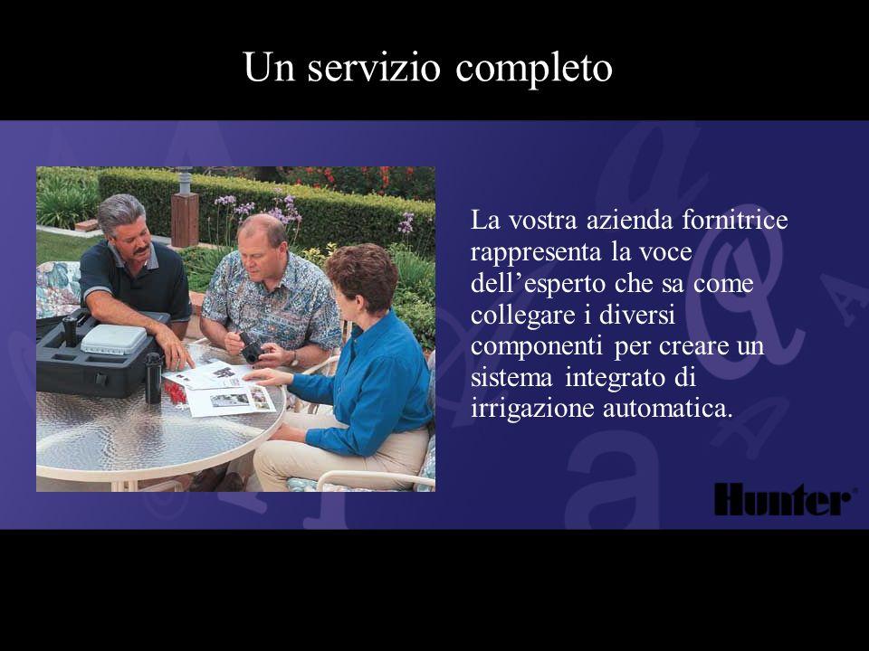 Un servizio completo La vostra azienda fornitrice rappresenta la voce dellesperto che sa come collegare i diversi componenti per creare un sistema int