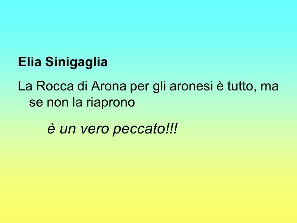 Elia Sinigaglia La Rocca di Arona per gli aronesi è tutto, ma se non la riaprono è un vero peccato!!!