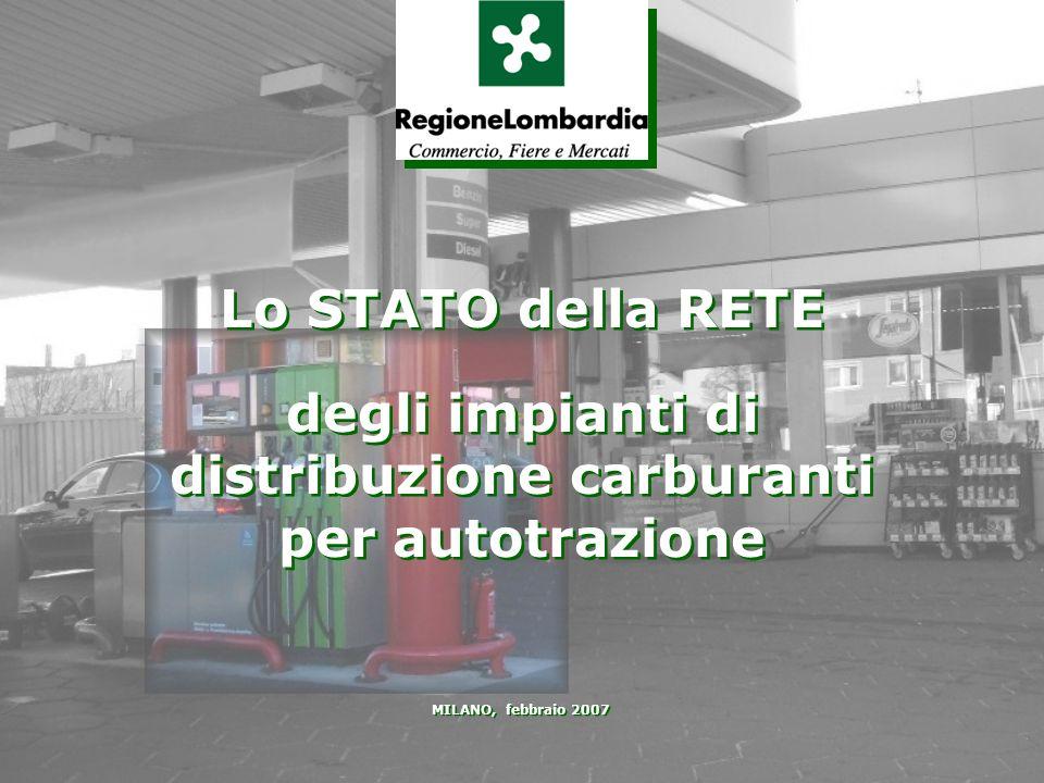 MILANO, febbraio 2007 Lo STATO della RETE degli impianti di distribuzione carburanti per autotrazione