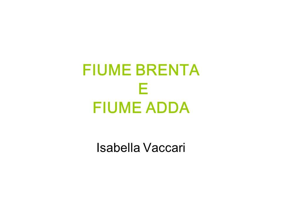 FIUME BRENTA E FIUME ADDA Isabella Vaccari
