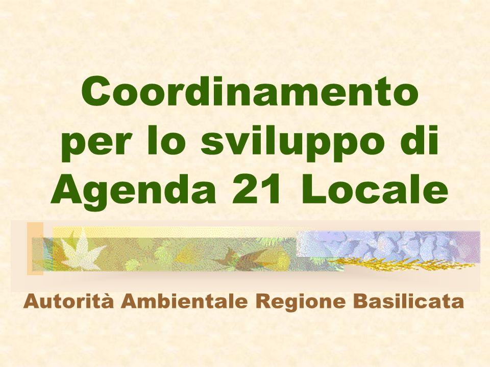 Coordinamento per lo sviluppo di Agenda 21 Locale Autorità Ambientale Regione Basilicata