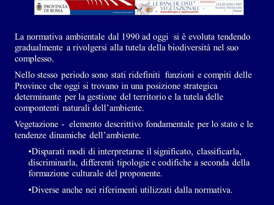 fta Anna Guidi Provincia di Roma Dipartimento V - Servizio 1 Ambiente TEMATIZZAZIONI CON DIVERSE CODIFICHE