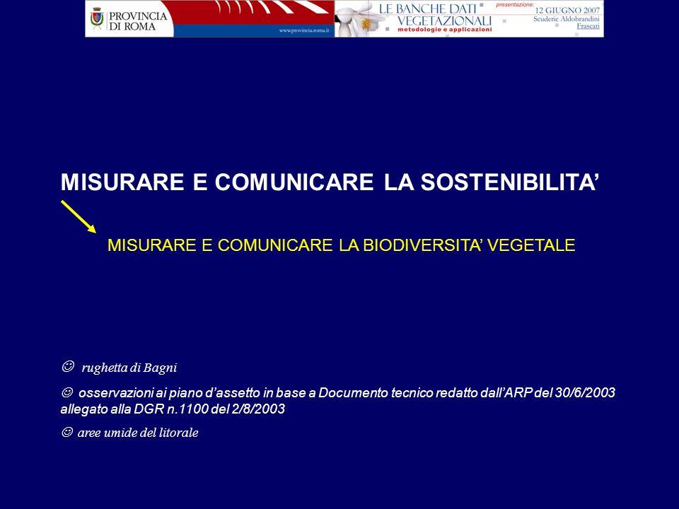 STRUMENTO WEBSIT: COMUNICARE LA BIODIVERSITA VEGETALE WM: Ing.