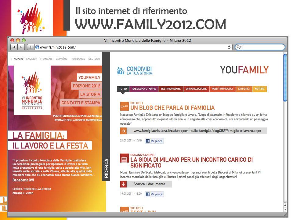 WWW.FAMILY2012.COM Il sito internet di riferimento