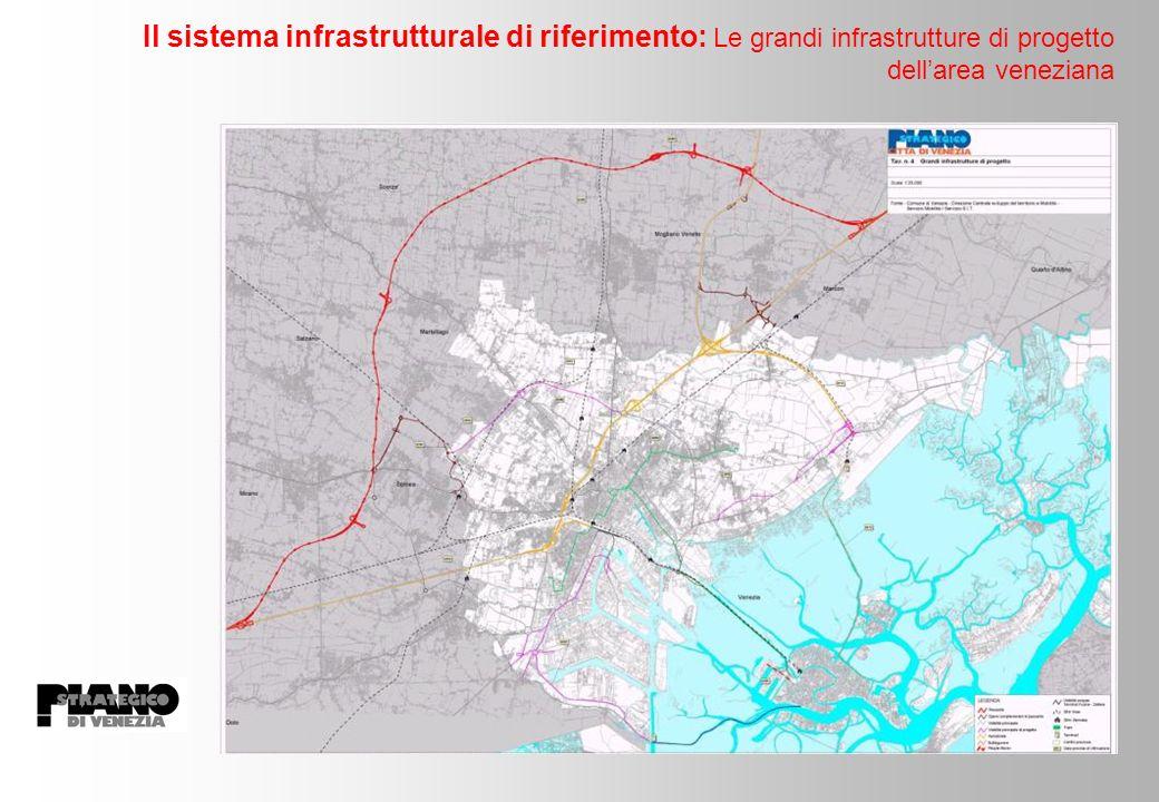 Il sistema infrastrutturale di riferimento: Le grandi infrastrutture di progetto dellarea veneziana