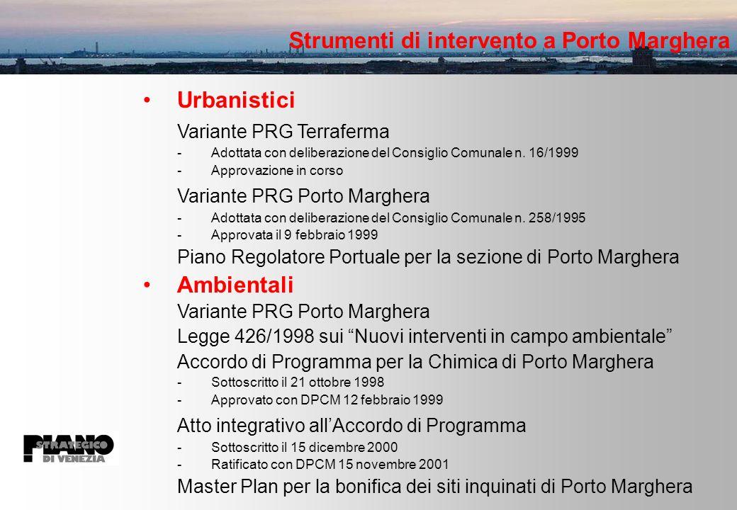 Strumenti di intervento a Porto Marghera Urbanistici Variante PRG Terraferma -Adottata con deliberazione del Consiglio Comunale n.