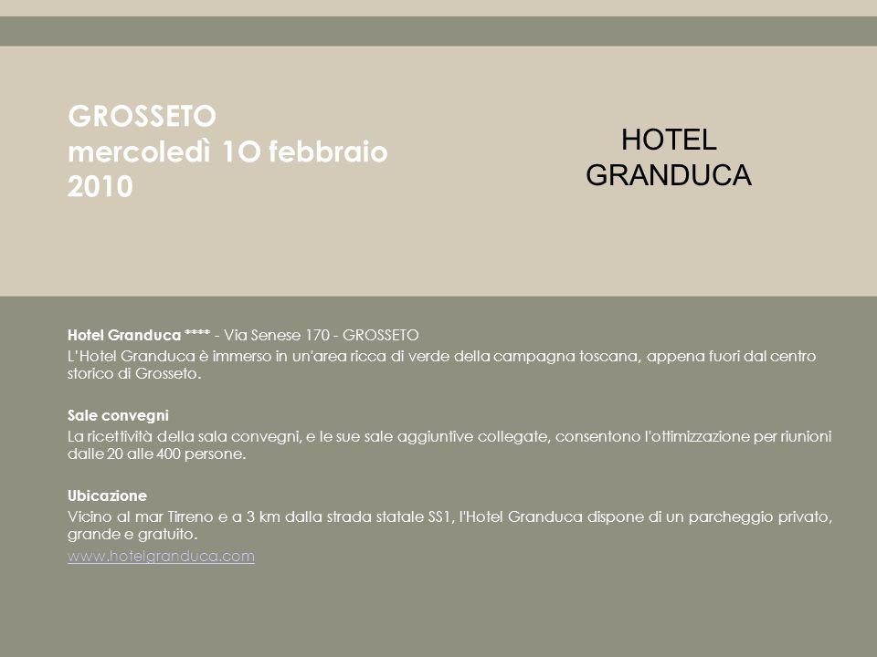 Hotel Granduca **** - Via Senese 170 - GROSSETO LHotel Granduca è immerso in un area ricca di verde della campagna toscana, appena fuori dal centro storico di Grosseto.