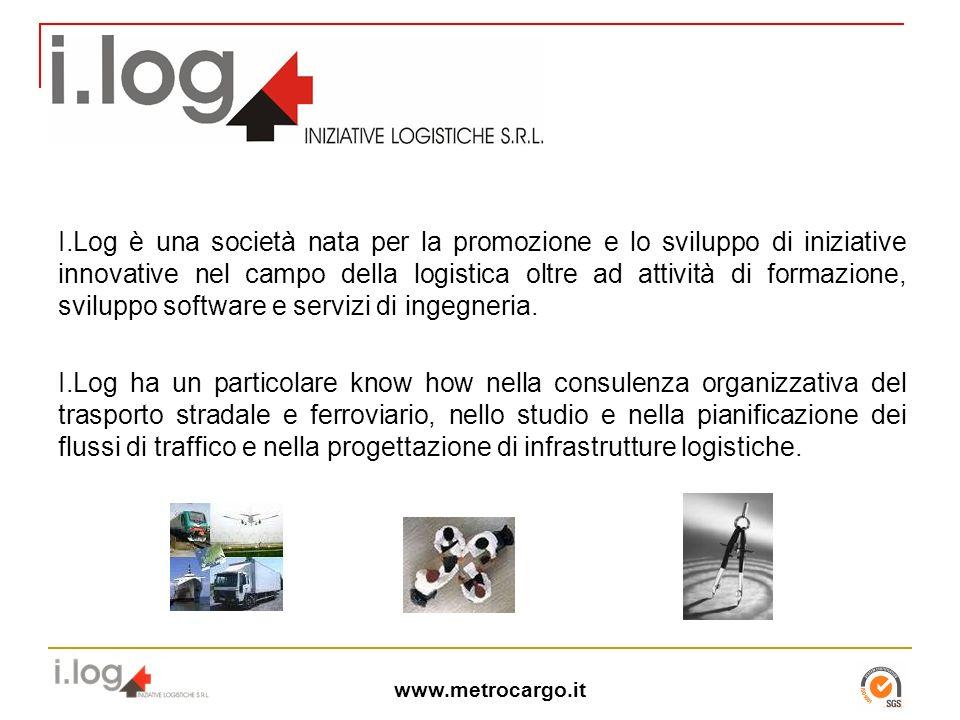 www.metrocargo.it I.Log è una società nata per la promozione e lo sviluppo di iniziative innovative nel campo della logistica oltre ad attività di formazione, sviluppo software e servizi di ingegneria.