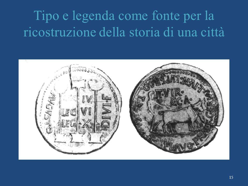 15 Tipo e legenda come fonte per la ricostruzione della storia di una città