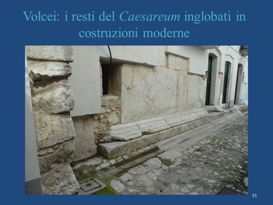 Volcei: i resti del Caesareum inglobati in costruzioni moderne 35