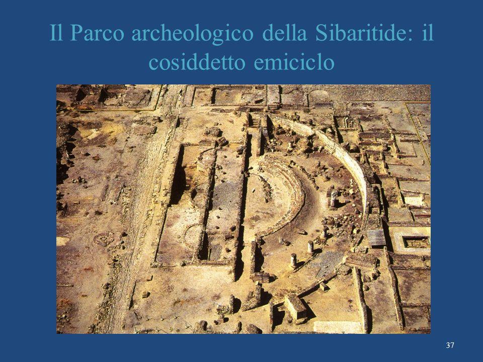 Il Parco archeologico della Sibaritide: il cosiddetto emiciclo 37