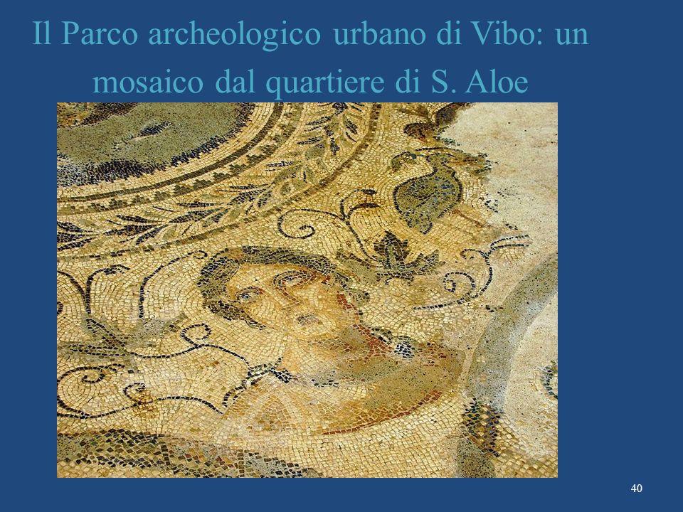Il Parco archeologico urbano di Vibo: un mosaico dal quartiere di S. Aloe 40