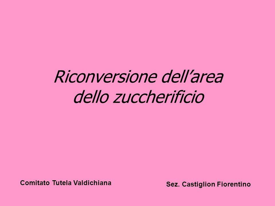 Riconversione dellarea dello zuccherificio Comitato Tutela Valdichiana Sez. Castiglion Fiorentino