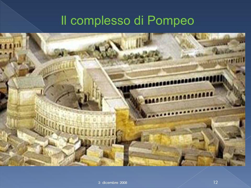3 dicembre 2008 12 Il complesso di Pompeo