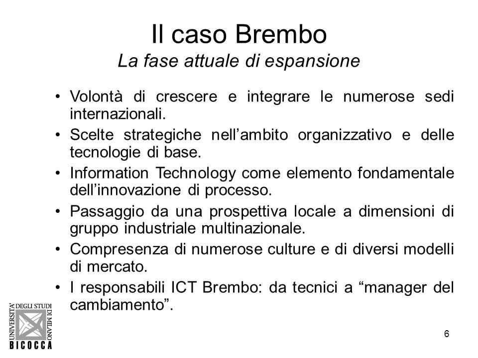 7 Il caso Brembo Il Bilancio del Capitale Intangibile.
