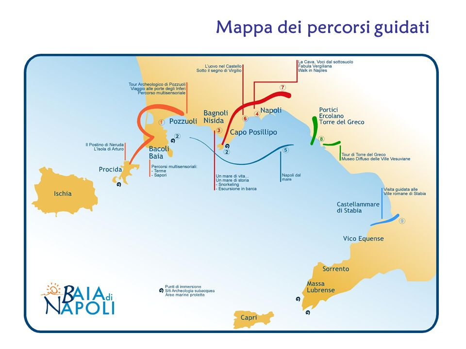 Mappa dei percorsi guidati