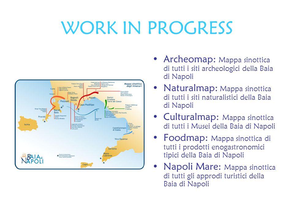 WORK IN PROGRESS Archeomap: Mappa sinottica di tutti i siti archeologici della Baia di Napoli Naturalmap: Mappa sinottica di tutti i siti naturalistic
