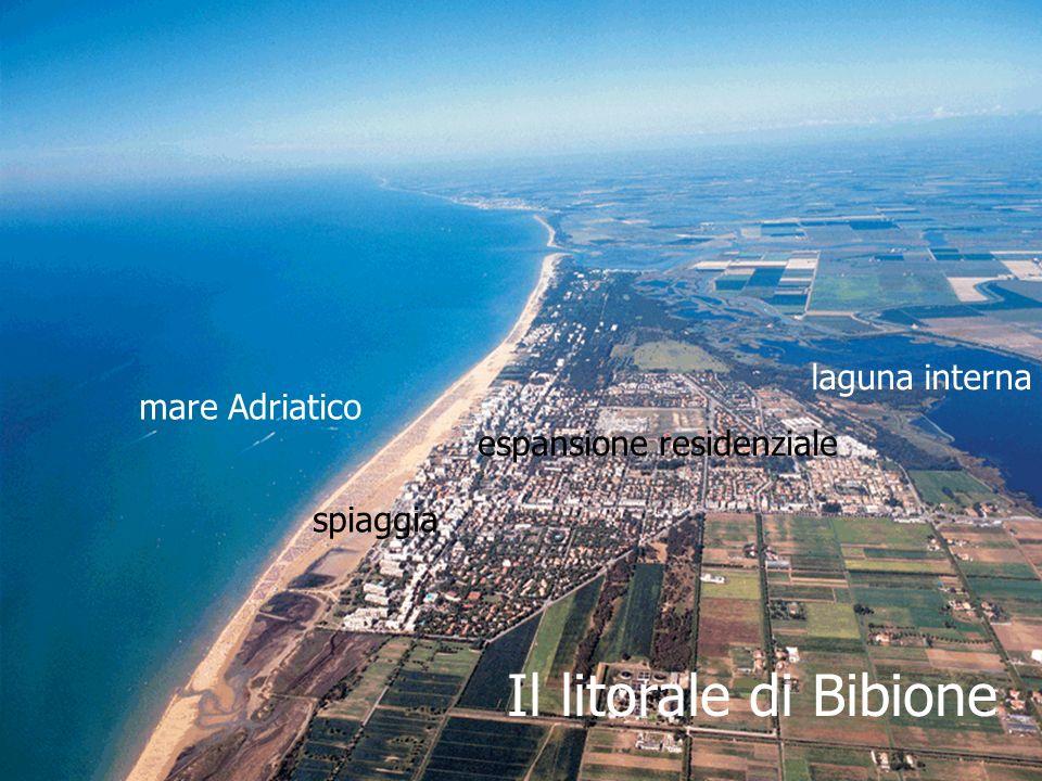 Il litorale di Bibione laguna interna espansione residenziale spiaggia mare Adriatico