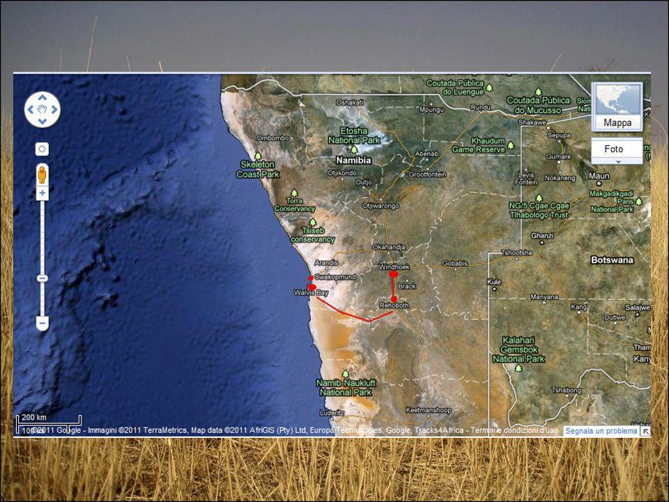 Giorno 2: Dopo pranzo e un giro per Windhoek si parte verso sud per Rehoboth, a pochi chilometri dal tropico del capricorno.