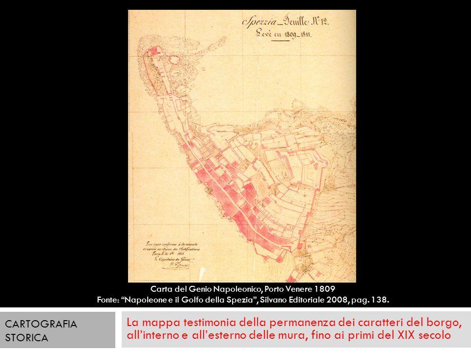 La mappa testimonia della permanenza dei caratteri del borgo, allinterno e allesterno delle mura, fino ai primi del XIX secolo CARTOGRAFIA STORICA Car