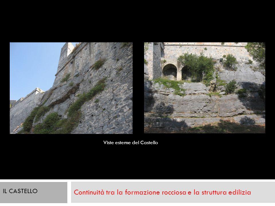 Continuità tra la formazione rocciosa e la struttura edilizia Viste esterne del Castello IL CASTELLO