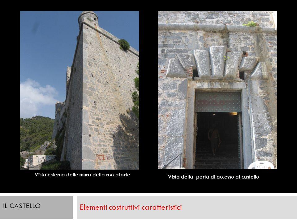 Elementi costruttivi caratteristici Vista esterna delle mura della roccaforte Vista della porta di accesso al castello IL CASTELLO