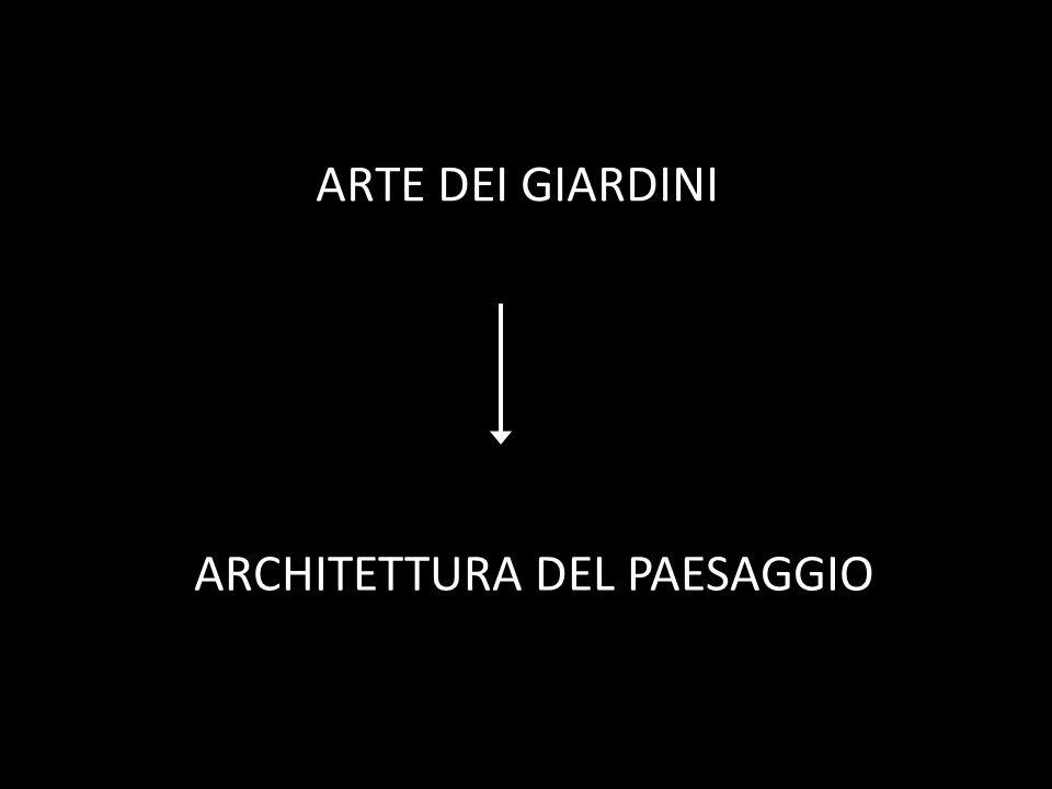 ARTE DEI GIARDINI ARCHITETTURA DEL PAESAGGIO