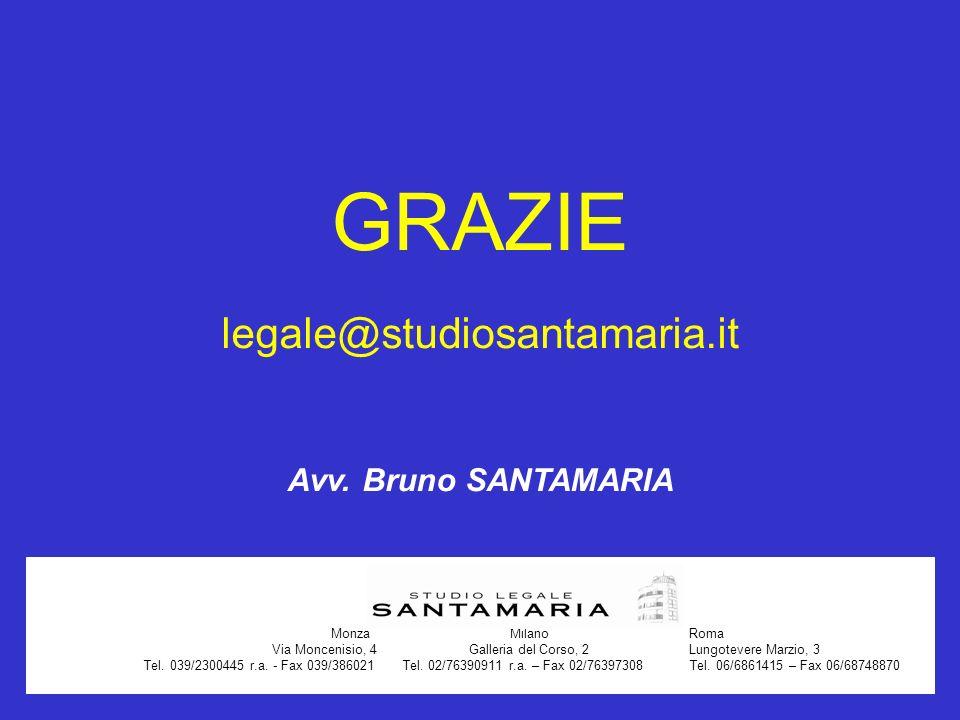 Monza Milano Roma Via Moncenisio, 4 Galleria del Corso, 2 Lungotevere Marzio, 3 Tel. 039/2300445 r.a. - Fax 039/386021 Tel. 02/76390911 r.a. – Fax 02/