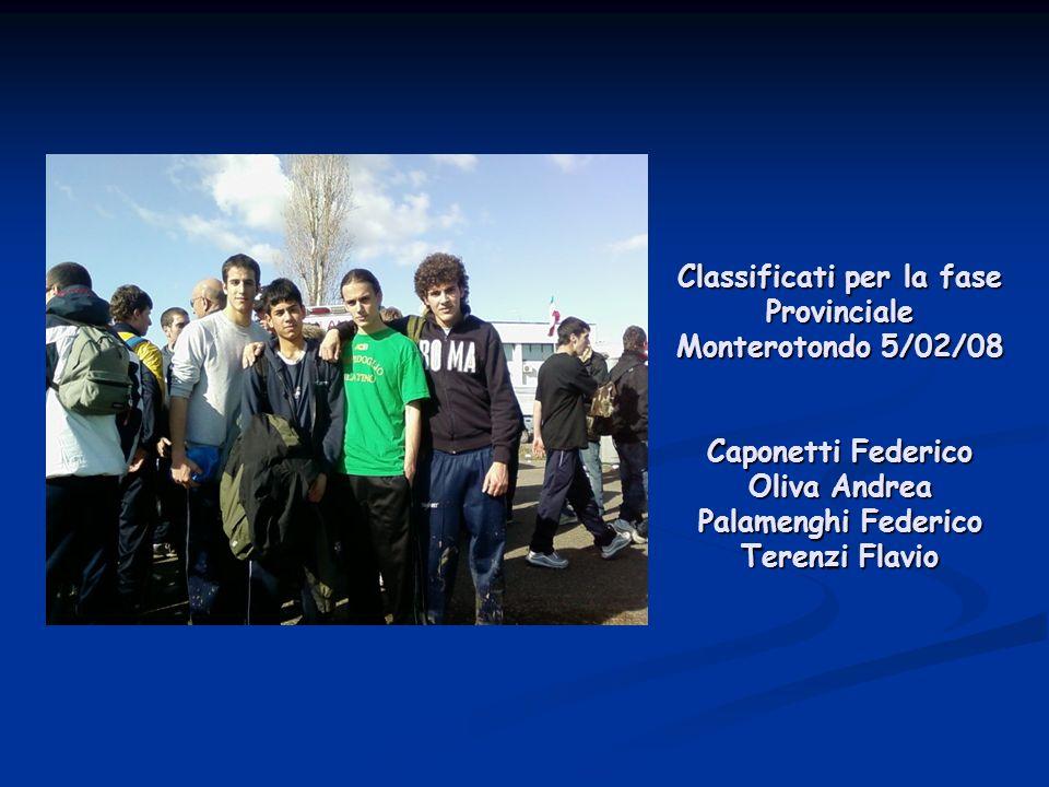 Caponetti Federico 3° A Liceo Scientifico 1° classificato fase comunale 30 Gennaio 2008 Circo Massimo