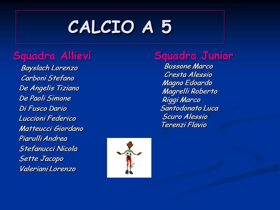 CALCIO A 5 CALCIO A 5 PALLAVOLO PALLAVOLO CAMPESTRE CAMPESTRE CALCIO A 5 CALCIO A 5 PALLAVOLO PALLAVOLO CAMPESTRE CAMPESTRE