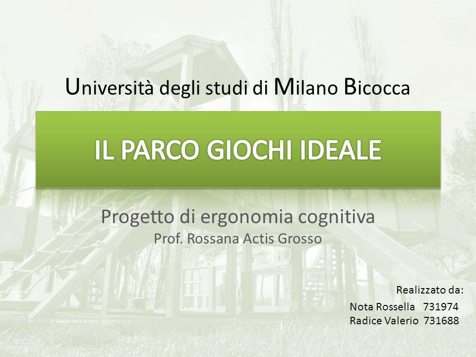 Progetto di ergonomia cognitiva Prof.