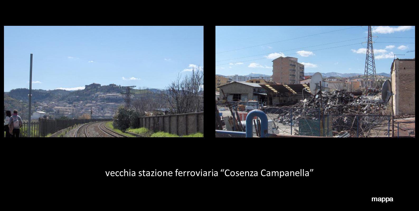 vecchia stazione ferroviaria Cosenza Campanella mappa