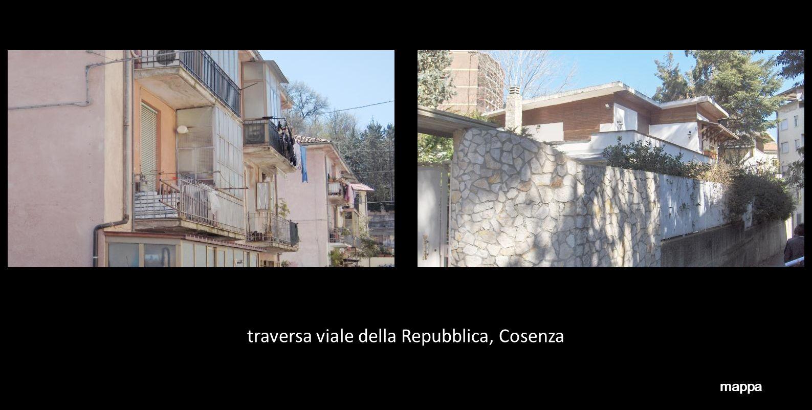 traversa viale della Repubblica, Cosenza mappa