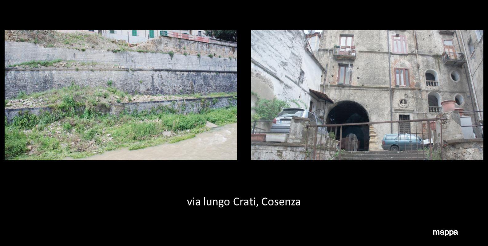 via lungo Crati, Cosenza mappa