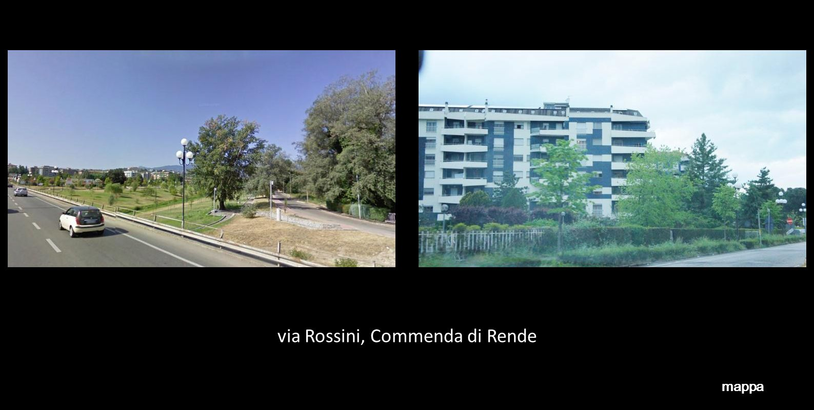 via Rossini, Commenda di Rende mappa
