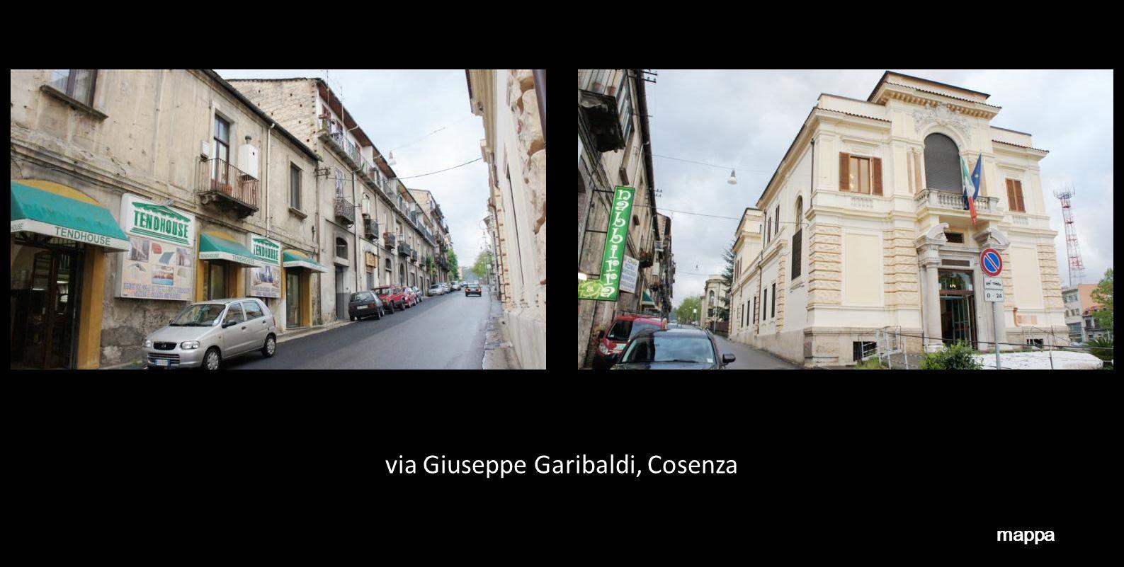 via Giuseppe Garibaldi, Cosenza mappa