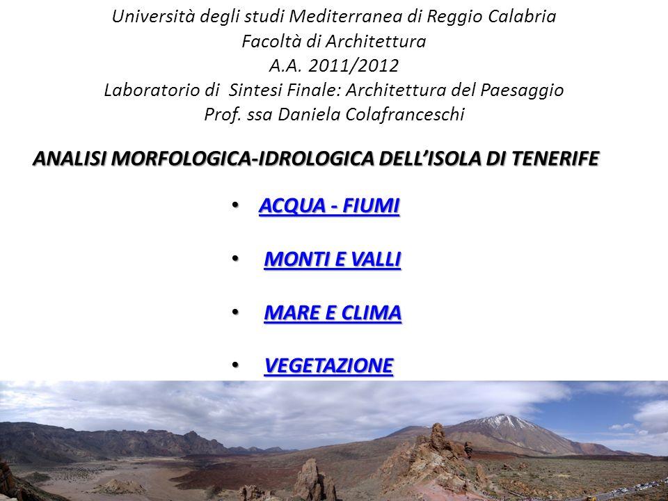 Università degli studi Mediterranea di Reggio Calabria Facoltà di Architettura A.A.