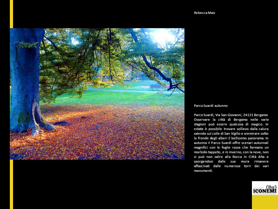 Rebecca Mais Parco Suardi autunno Parco Suardi, Via San Giovanni, 24121 Bergamo Osservare la città di Bergamo nelle varie stagioni può essere qualcosa