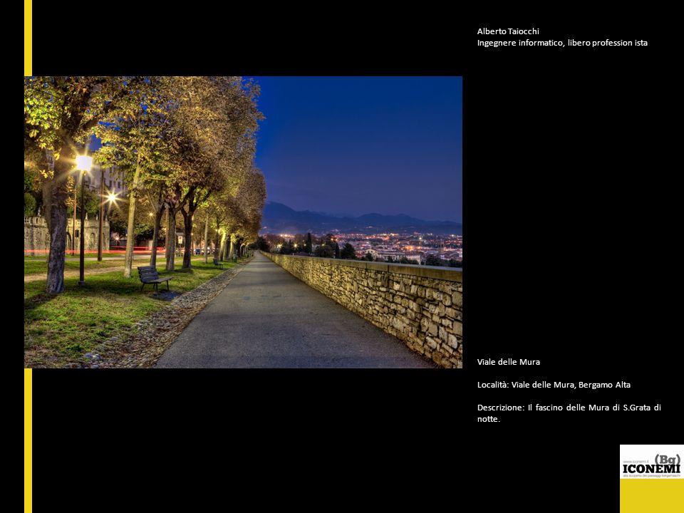 Alberto Taiocchi Ingegnere informatico, libero profession ista Viale delle Mura Località: Viale delle Mura, Bergamo Alta Descrizione: Il fascino delle
